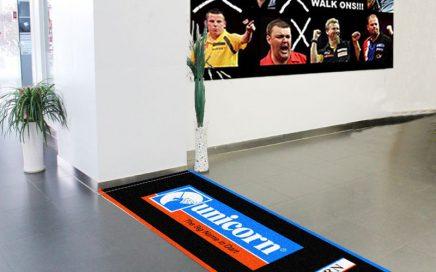 Advertising dust control dart mat dart throw mat with custom logo for exhibition