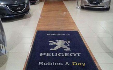Automobile Shop Exhibition Tradeshow Printed Logo Rug Premium Entrance Carpet Custom Logo Mats For Peugeot