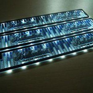 Design your own bar mats glow in dark led rubber bar mat