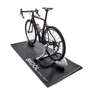 Black Multi-Purpose Bike Bicycle Exercise Protector Mat with printed logo
