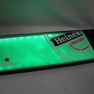 Custom LED bar glass drying mats with embossed 3D logo