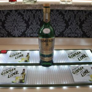 Custom brands soft pvc led bar mat bar equipment for sale