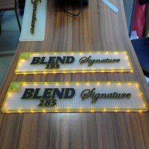 Custom brands soft pvc led bar mat led bar runner bar coaster glow