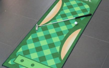 Customized indoor golf net and mat golf putting practice mat golf driving pad