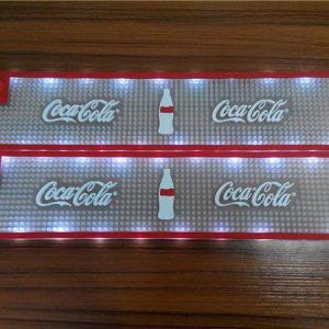 LED oem logo soft pvc rubber vinyl branded bar mats bar accessories