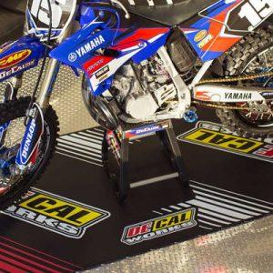 Motorcycle logo flooring garage parking mat water absorption garage mats