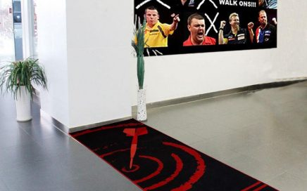 Nylon Printed Dart Mat With Dart Throw Line Dart Accessories Dart Practice Mat