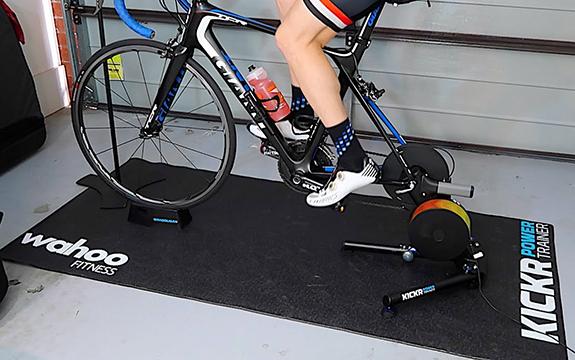 Printed bike fitness rubber floor mat with custom logo