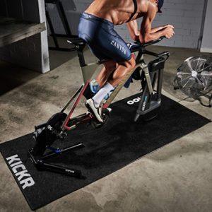 Slip Resistant Indoor Bicycle Bike Floor Protector Mat with printed logo Trainer Floormat
