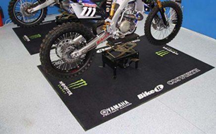 Tradeshow Exhibition Tuft Printed Logo Floor Mats Racing Motorbike Motorcycle Mat Carpets