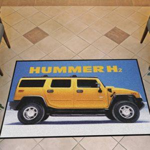Vehicle floor mats custom printed carpet logo rubber floor mat for advertisement