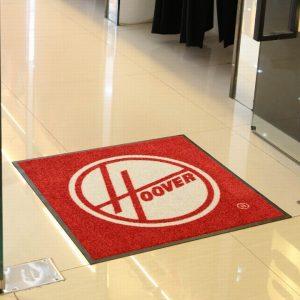 Custom Hoover Vacuum cleaner logo floor mat for shampooers demonstration