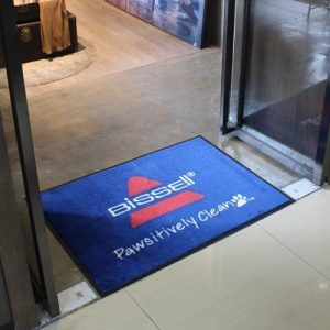 Bissell Vacuum cleaner custom logo floor mat for shampooers demonstration